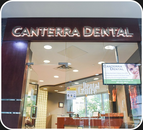 Clinic Entrance | Canterra Dental Centre | Downtown Calgary | General and Family Dentist